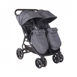Stroller For Twins Happy 2 - Gray